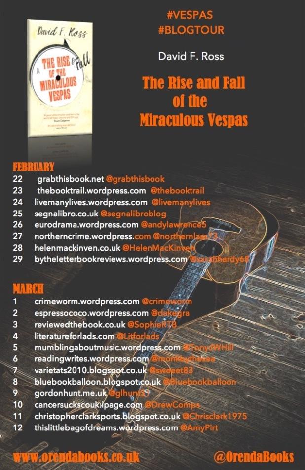 Vespas blog tour banner