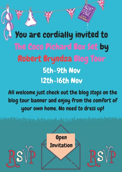 You are cordially invited to The Coco Pichard Box Set by Robert Bryndza Blog Tour